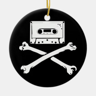 Tape Crossbones Music Pirate Piracy Home Taping Christmas Tree Ornaments