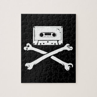 Tape & Crossbones Music Pirate Piracy Home Taping Jigsaw Puzzles