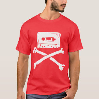 Tape & Crossbones Music Pirate Piracy Home Taping T-Shirt