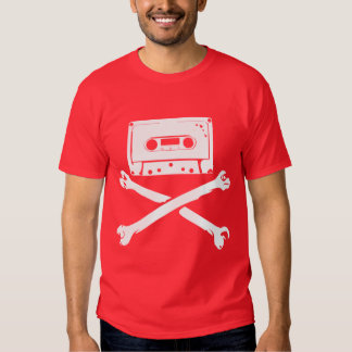 Tape & Crossbones Music Pirate Piracy Home Taping T-shirts