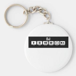 Tape Deck - DJ Basic Round Button Keychain