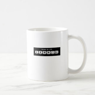 Tape Deck - Music is Life Coffee Mug