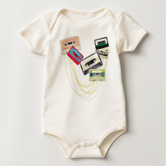 tape decks with bling baby bodysuit