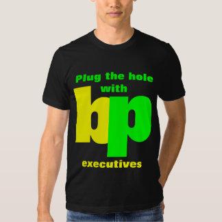 Tape el agujero con los ejecutivos del punto de polera