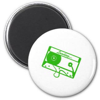 Tape Loading - Gamer, geek, video games, Gaming Refrigerator Magnet