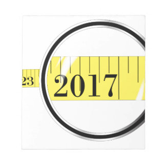 Tape Measure 2017 Notepad
