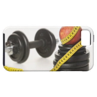 Tape measure apple dumbbell and weights iPhone 5 covers