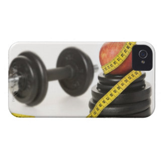Tape measure apple dumbbell and weights blackberry case