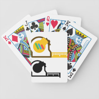 Tape measure bicycle playing cards