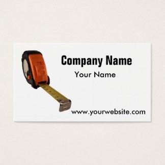 Tape measure business card
