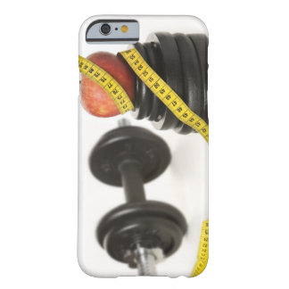 Tape measure dumbbell and weights iPhone 6 case