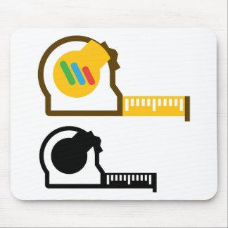 Tape measure mouse pad