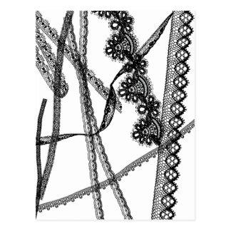 Tape of race/lace postcard