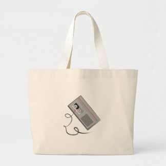 Tape Player Large Tote Bag
