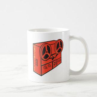 tape recorder reel cassette deck retro coffee mug