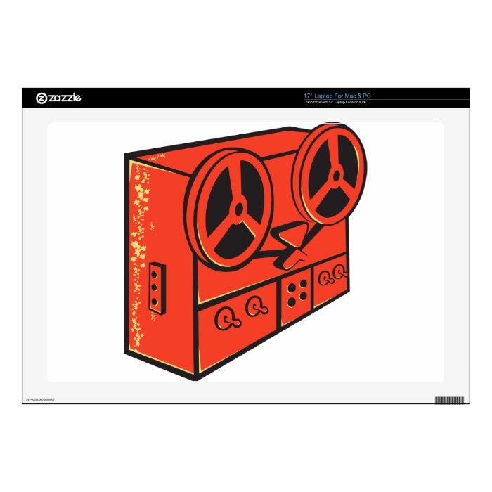 tape recorder reel cassette deck retro laptop decal