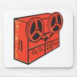 tape recorder reel cassette deck retro mouse pad