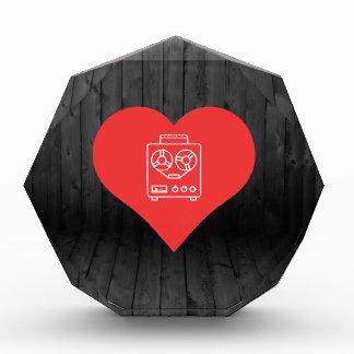 Tape  Recorders Symbol Acrylic Award