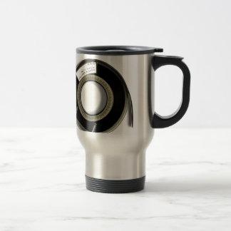Tape reel travel mug