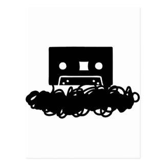 tape spaghetti icon postcard