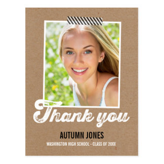 Taped Graduation Thank You Card