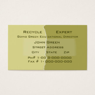 Taped Reused Business Card