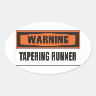 Tapering Oval Sticker