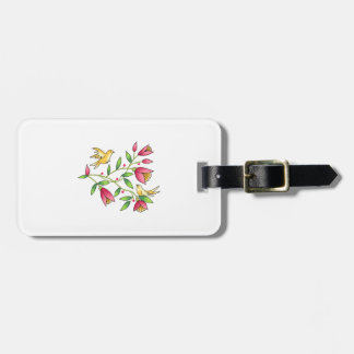 TAPESTRY BIRDS AND FLOWERS TAGS FOR LUGGAGE