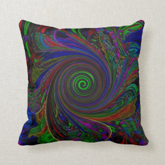 """""""Tapestry Color Swirl"""" Polyester Throw Pillow"""