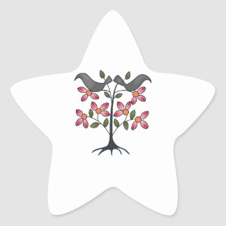 TAPESTRY CROWS STAR STICKER