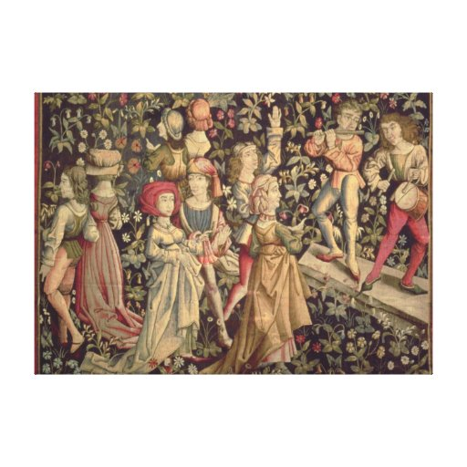 Tapestry depicting dancers and musicians canvas print