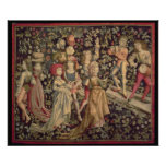 Tapestry depicting dancers and musicians poster