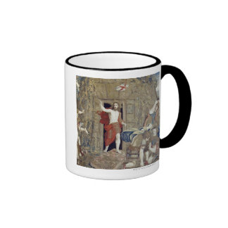 Tapestry depicting the Resurrection of Christ in Ringer Coffee Mug