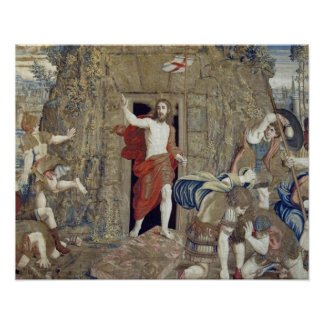 Tapestry depicting the Resurrection of Christ in Poster