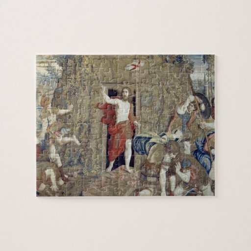 Tapestry depicting the Resurrection of Christ in Puzzle