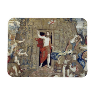 Tapestry depicting the Resurrection of Christ in Rectangular Photo Magnet