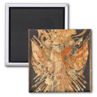 Tapestry depicting war trophies (textile) 2 inch square magnet
