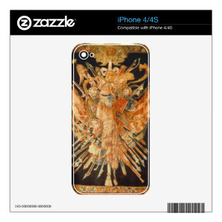 Tapestry depicting war trophies (textile) decal for iPhone 4
