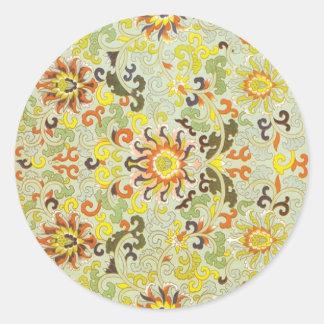 tapestry design classic round sticker