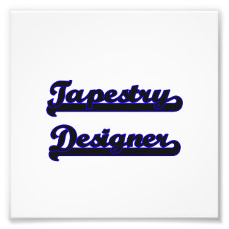 Tapestry Designer Classic Job Design Photo Print