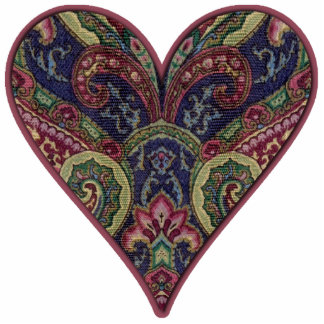 Tapestry Fabric Heart Collage Cutout