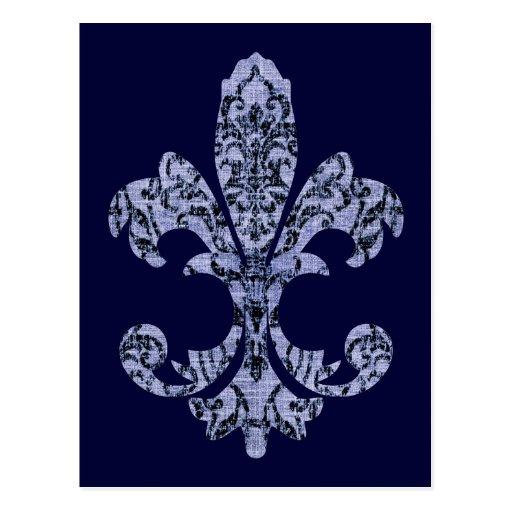 Tapestry Fleur de lis 1 Post Cards