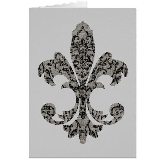 Tapestry Fleur de lis 2 Card