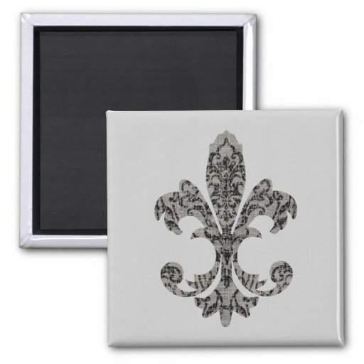 Tapestry Fleur de lis 2 Fridge Magnets