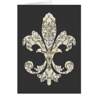 Tapestry Fleur de lis 3 Card