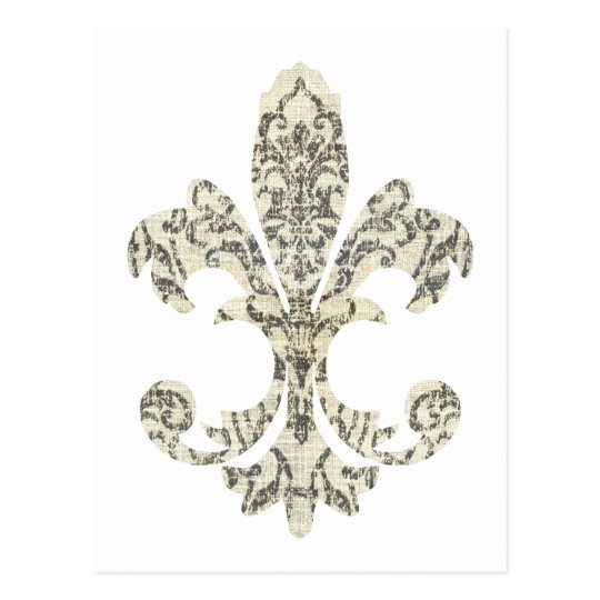 Tapestry Fleur de lis 3 Postcard