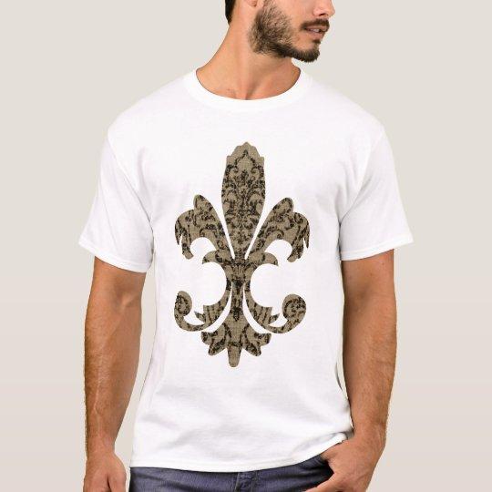 Tapestry Fleur de lis 4 T-Shirt