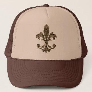 Tapestry Fleur de lis 4 Trucker Hat