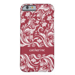 Tapestry Floral Swirls Custom Color Barely There iPhone 6 Case