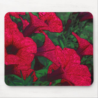 Tapestry Flowers: Fuschia Mouse Pad